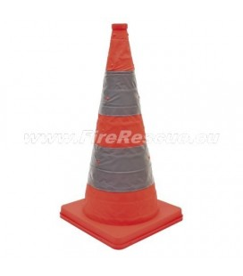 FOLDING TRAFFIC CONE - FLASHING